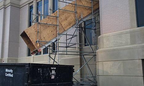 trash chutes construction jobsite
