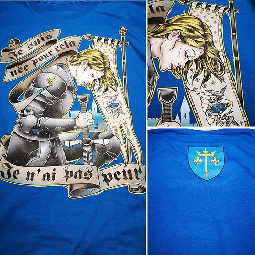 T shirt bleu homme Jeanne d'arc