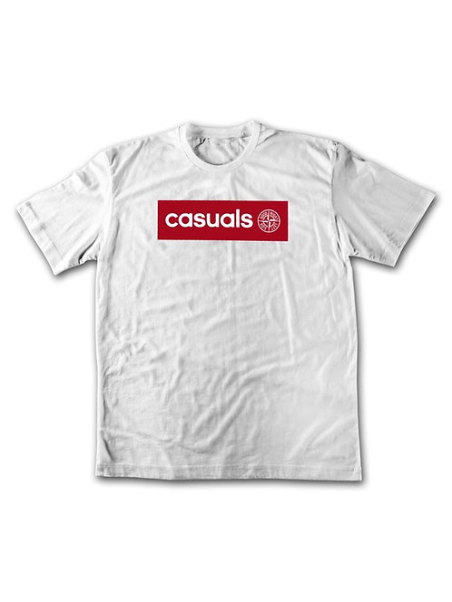 T shirt blanc/rougecasual