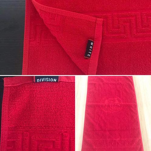 Lot 2 serviettes rouge/blanc