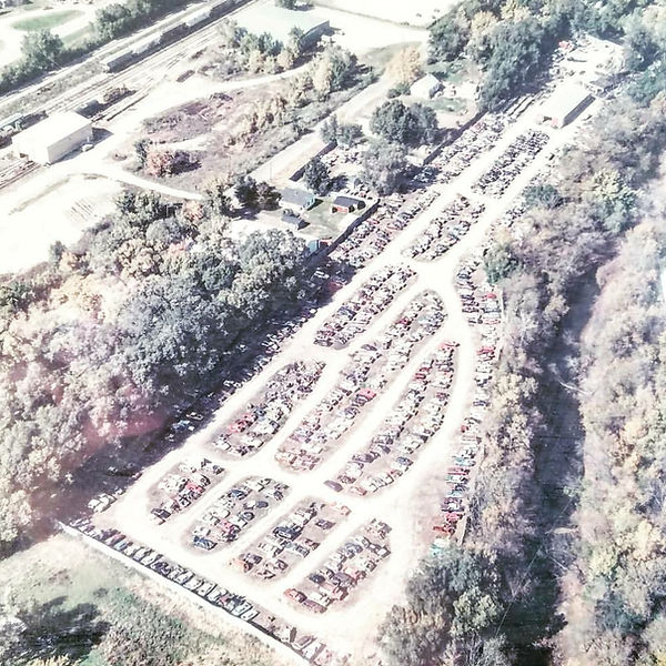 Aerial view of Wilber Auto Salvage 2220 Easton Ave, Waterloo, IA 50702