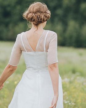 草原での花嫁&花婿