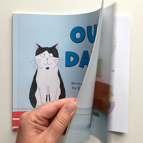 Our Dave Children's book, flick through image