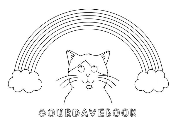 Our Dave Colouring In Page. Free Download. Cat.