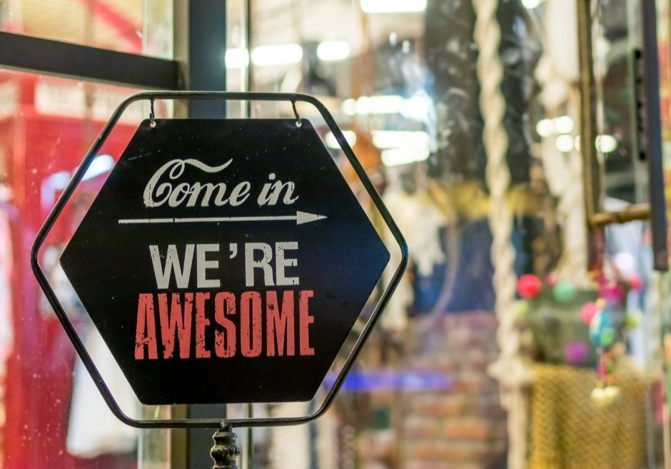 Sign with a Call To Action of being awesome