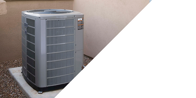 A newly installed air conditioning unit