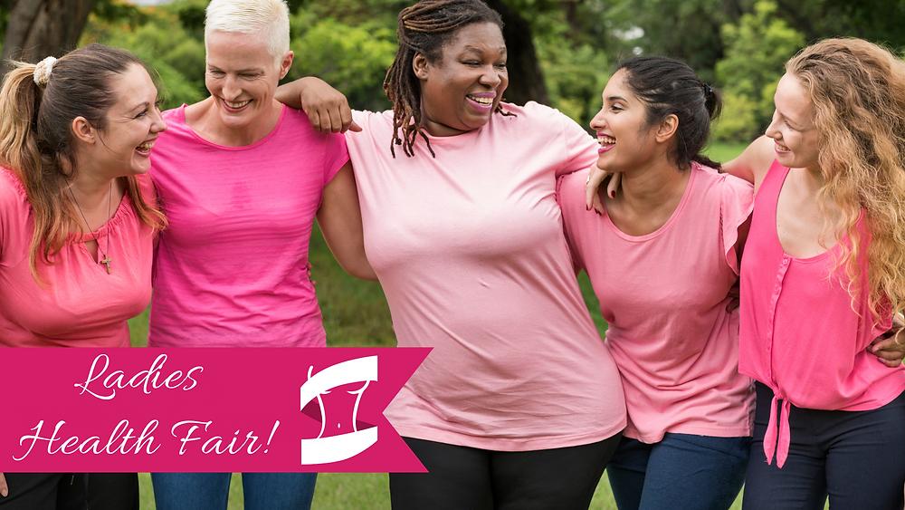Promo photo featuring cancer survivors for the Ladies Health Fair
