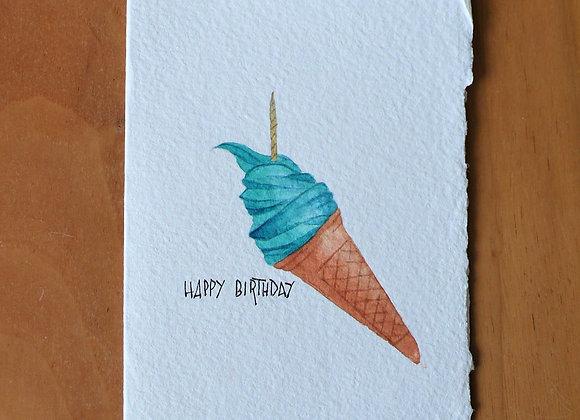 A6 CARD BIRTHDAY ICE CONE