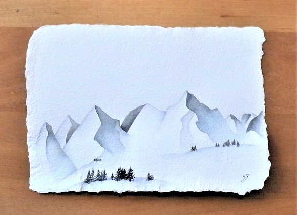 A5 DRAWING MONTAINS