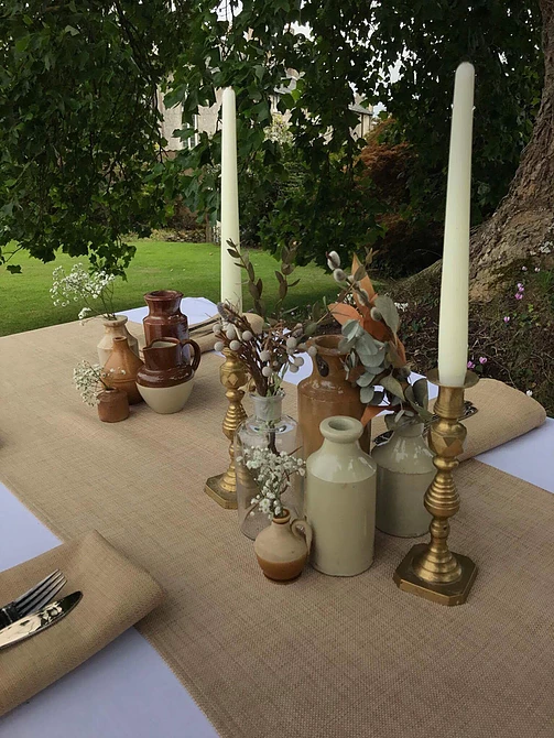 Golden Candle sticks for Hire Somerset
