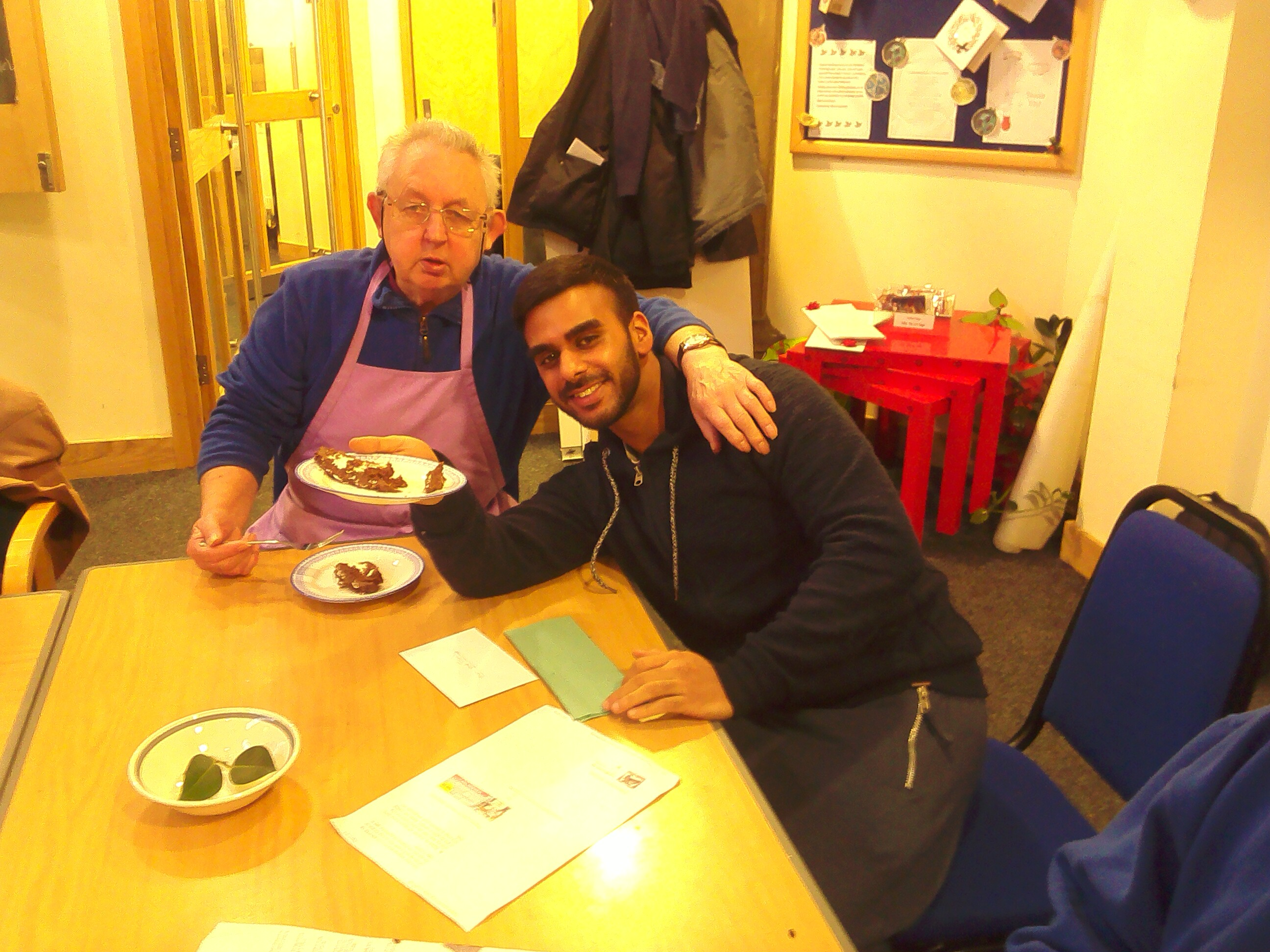 Hassan and Norms cooking group