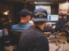 Men Working in Recording Studio
