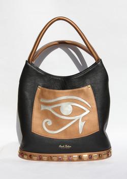 Hórusz szeme - fekete/bronz/ezüst