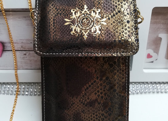 Lily mobil case - snake leathers