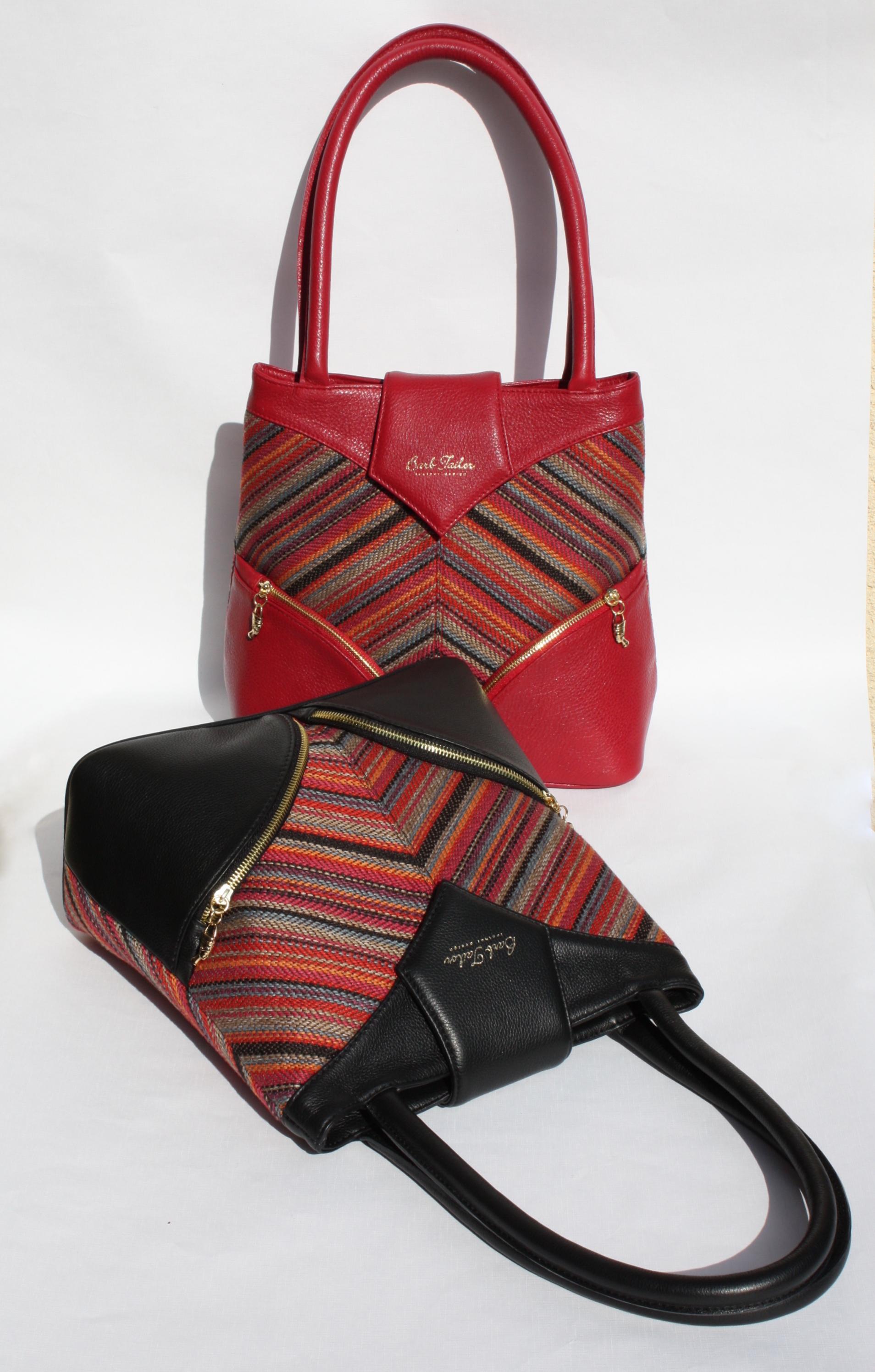 Vörös és Fekete Homok táskák