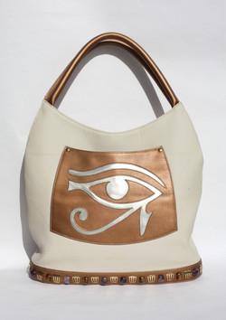 Hórusz szeme - bézs/bronz/ezüst
