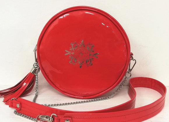 Luna round bag - red colours