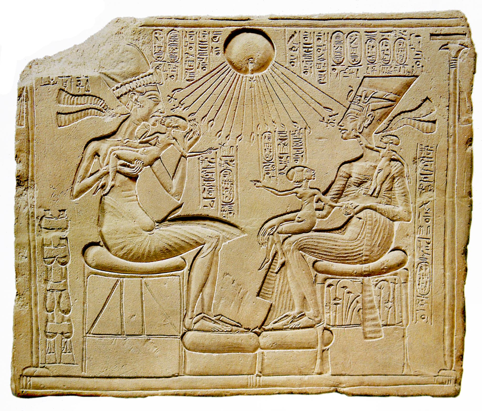Akhenaton and his family
