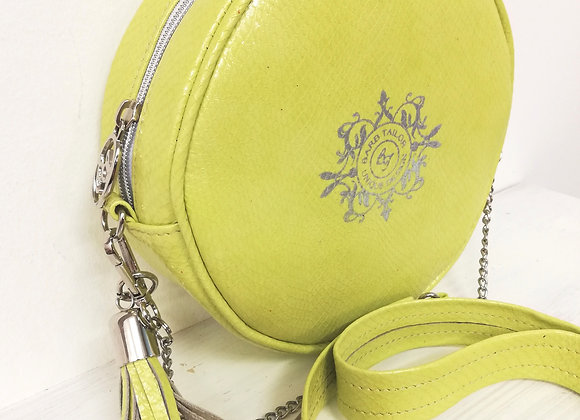 Luna round bag - green & blue