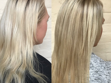 Outgrown Root Highlift Tint to Full Head of Ash White Blondes