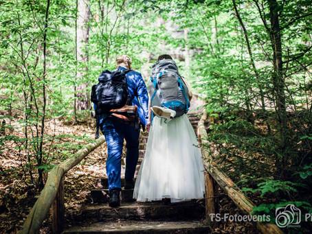 Hochzeit auf Wanderschaft