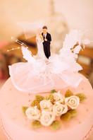 Figuren auf der Hochzeitstorte