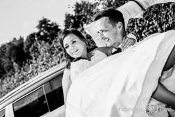 Brautpaar am Fasanenschlösschen Moritzburg, Hochzeit