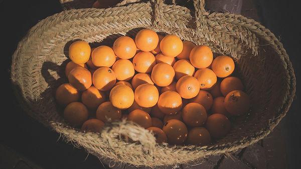 오렌지 바구니