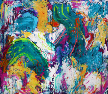 """Just Let It Be (60""""hx70""""w)"""