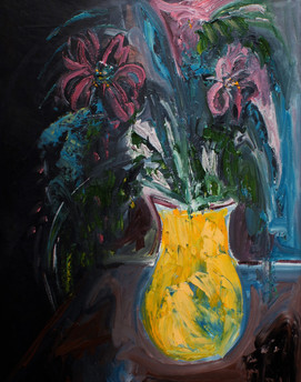 """A Fist Of Flowers For Everyone (32""""hx24""""w)"""