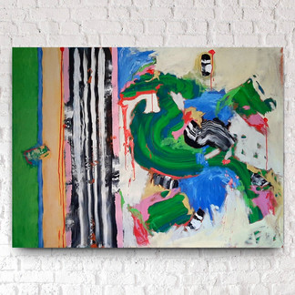 """You Put Your Hands In The Puppets And You Shake Them All About (38""""hx52"""")"""