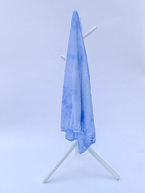 Blue Crumple Tie Dye Swaddle Blanket