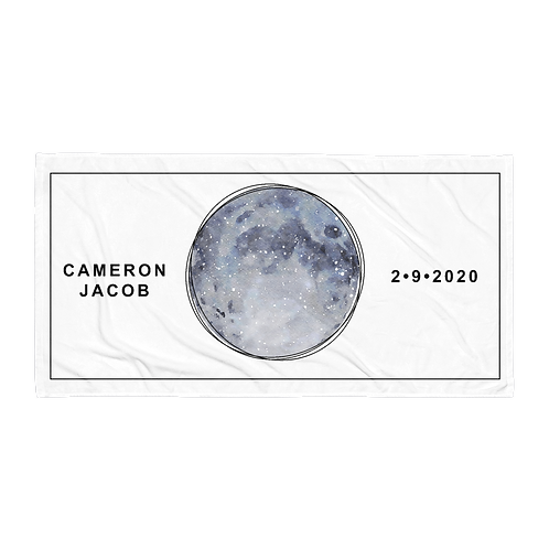 Harvest Moon Star Map Personalized Towel
