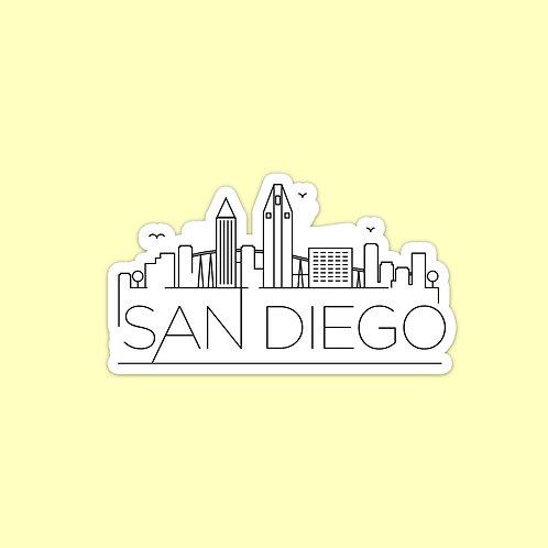 San Diego Skyline Sticker