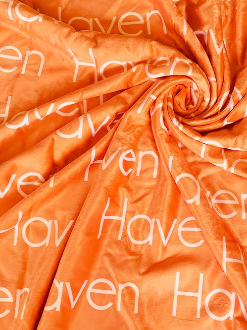 Orange Personalized Name Blanket | Bright Collection