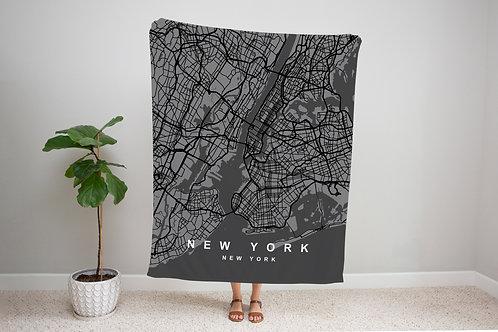 Black on Black Custom Map Blanket