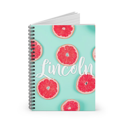 Grapefruit Personalized Journal