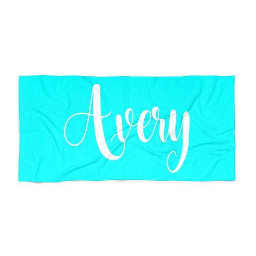 Aqua Personalized Towel