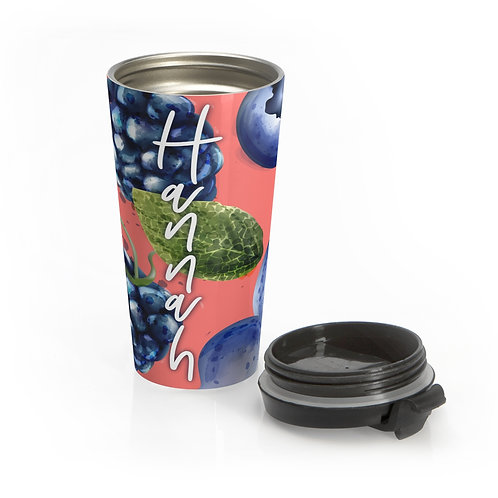 Berries Personalized Travel Mug