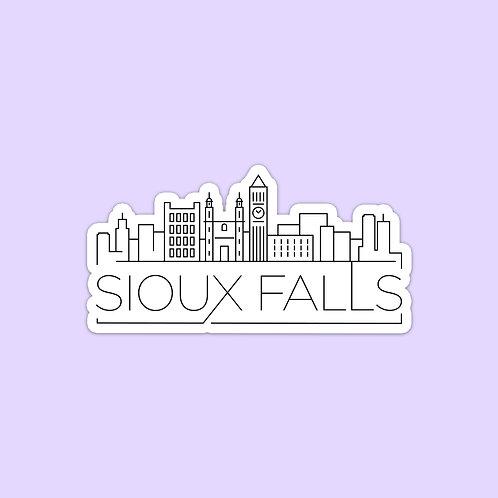 Sioux Falls Skyline Sticker