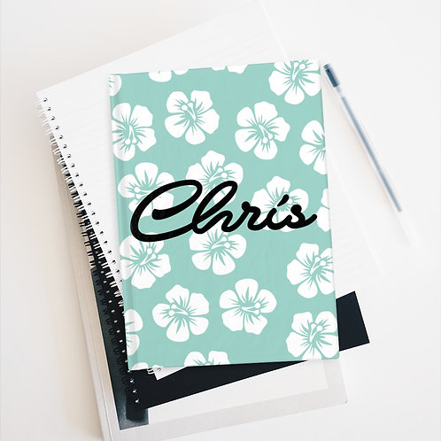 Hawaiian Flowers Personalized Journal