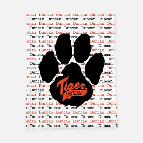 Tiger Pride Personalized Blanket