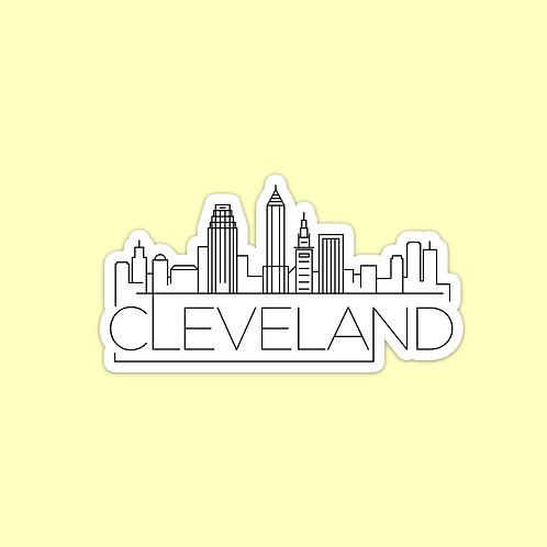 Cleveland Skyline Sticker