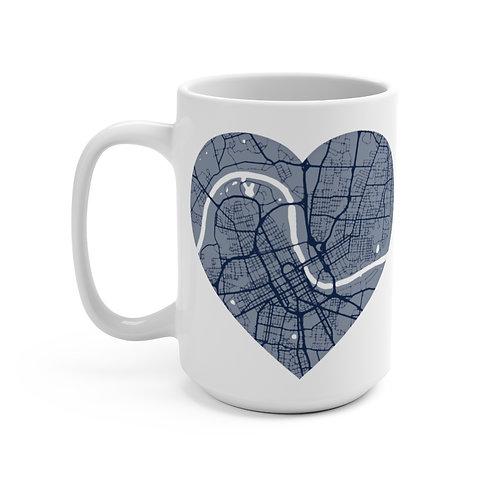 Dark Blue Road Map Mug