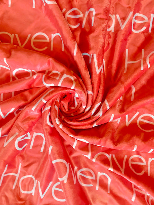 Red Personalized Name Blanket | Bright Collection