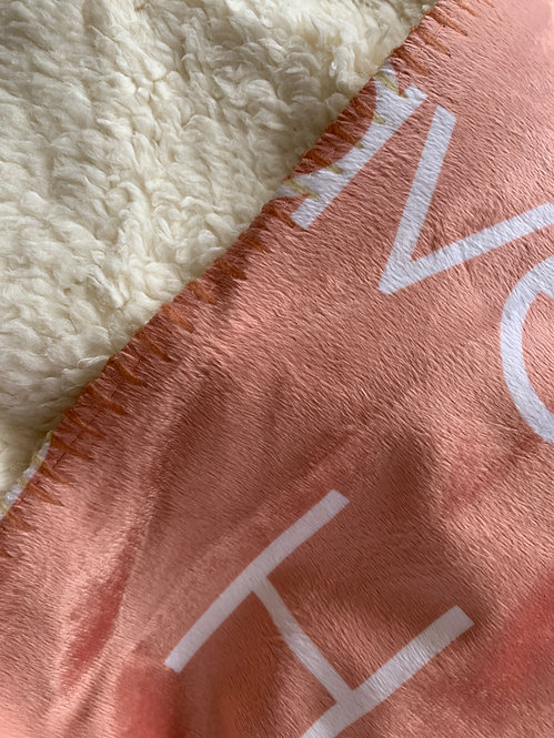 Apricot Personalized Name Blanket