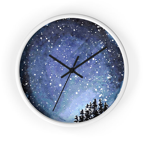 Night Sky Star Map Personalized Clock