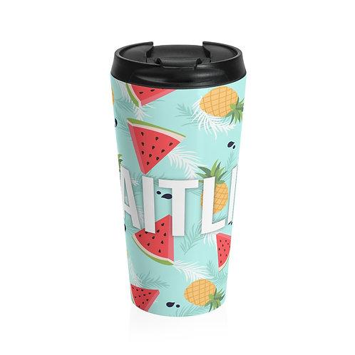 Watermelon Pineapple Personalized Travel Mug