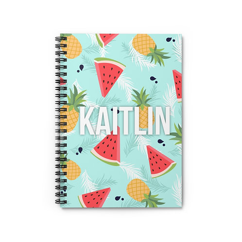 Watermelon Pineapple Personalized Journal