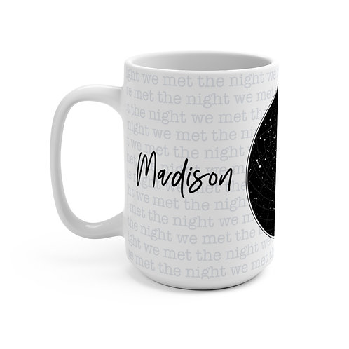 Couple Milestones | Star Map Mug